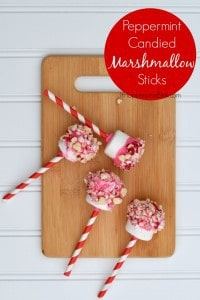 Peppermint Candied Marshmallows