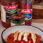 Pesto Chicken Spaghetti with Mezzetta- Love, Pasta and a Tool Belt #sp |chicken | recipes | dinner | food | pasta |