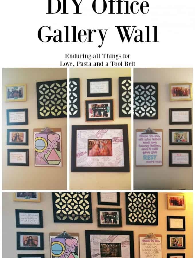 DIY Office Gallery Wall