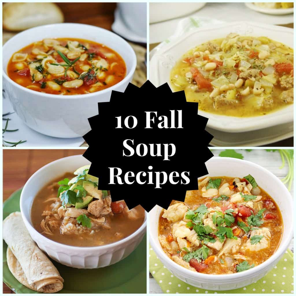 10 Fall Soup Recipes for these chilly days. Soup recipes for the crockpot or for the stove top. Enjoy one of these for dinner tonight!