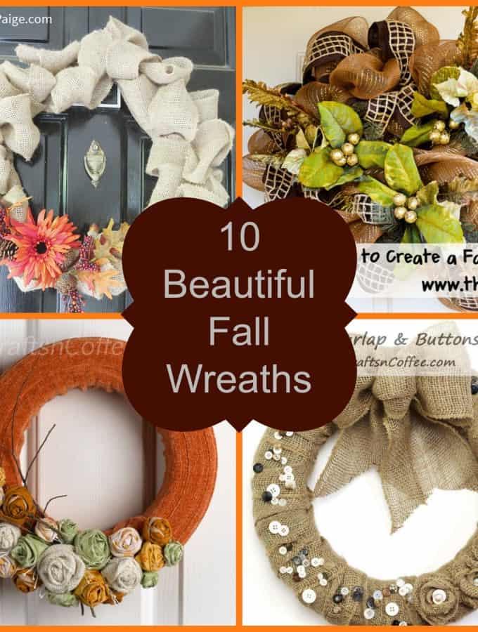 10 Beautiful Fall Wreaths