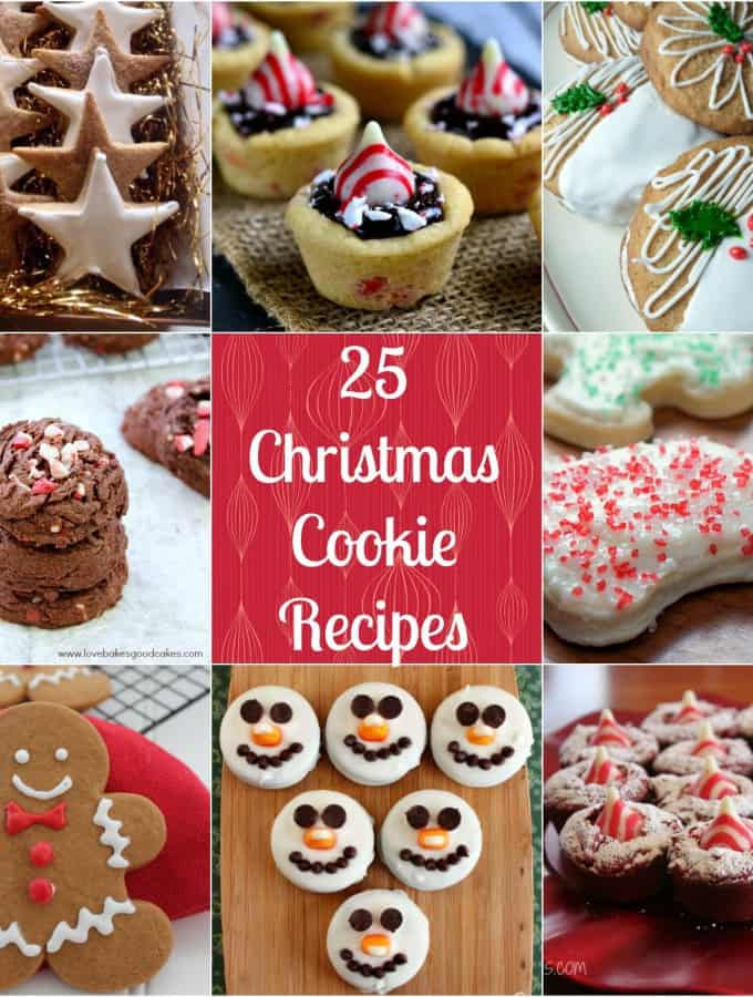 25 Christmas Cookie Recipes are perfect for your holiday baking or Christmas cookie swaps- Love, Pasta and a Tool Belt | cookies | Christmas | baking | Christmas cookies | Holidays | desserts |