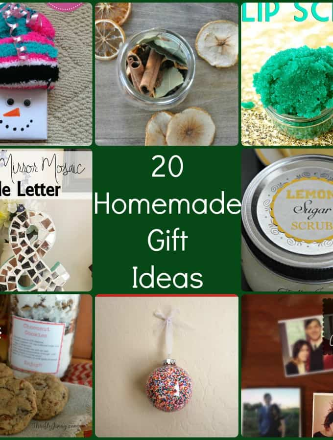 20 Homemade Christmas Gifts is a great round up of DIY gift ideas- Love, Pasta and a Tool Belt | DIY | gift ideas | Homemade gifts | crafts |