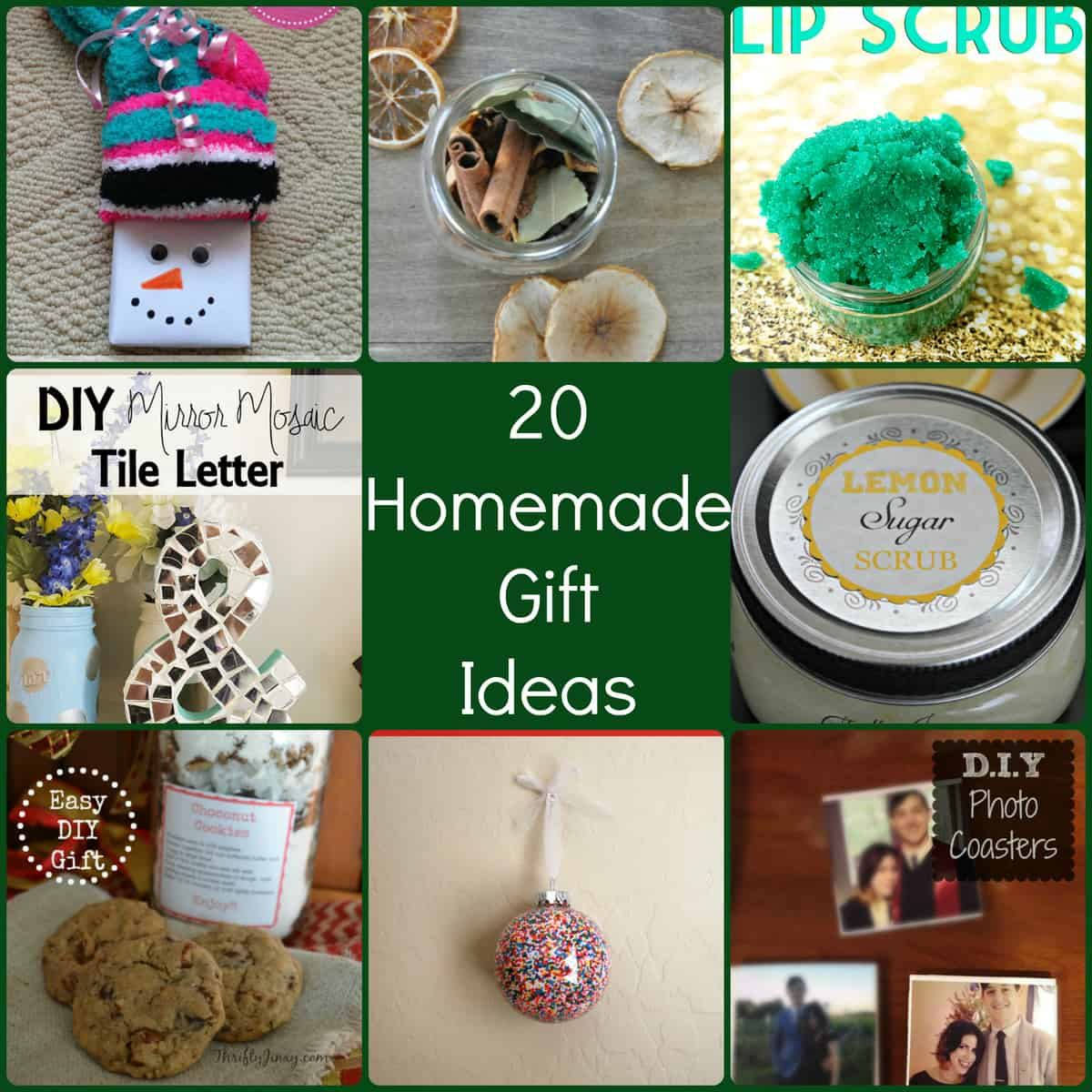 Great Diy Christmas Gift: 20 Homemade Christmas Gift Ideas