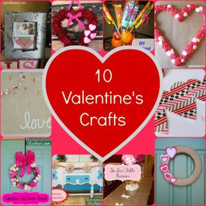 10 Valentine's Crafts Round Up