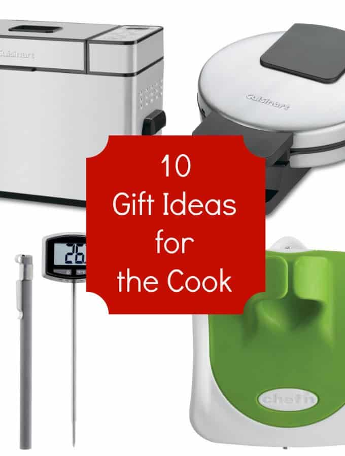 10 Gift Ideas for the Cook in your life. Need help with your Christmas shopping? Check out this great Holiday Gift Guide- Love, Pasta and a Tool Belt | Christmas | Gift Guide | Holidays | Shopping | Cooks | Kitchen |