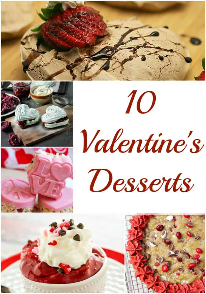 10 Valentine's Desserts are the perfect sweet treat for your Valentine- Love, Pasta and a Tool Belt | Valentine's Day | Desserts | Recipes | Hearts |