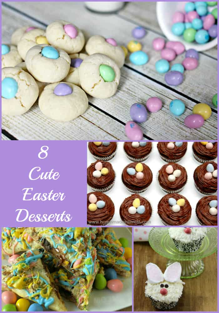8 Cute Easter Desserts- Love, Pasta and a Tool Belt | Desserts | Easter | Easter Desserts | Baking | Cupcakes |