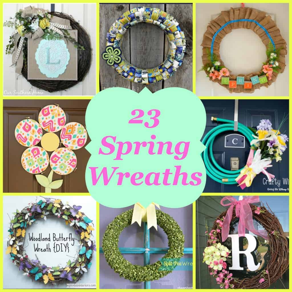 23 Spring Wreaths- Love, Pasta and a Tool Belt