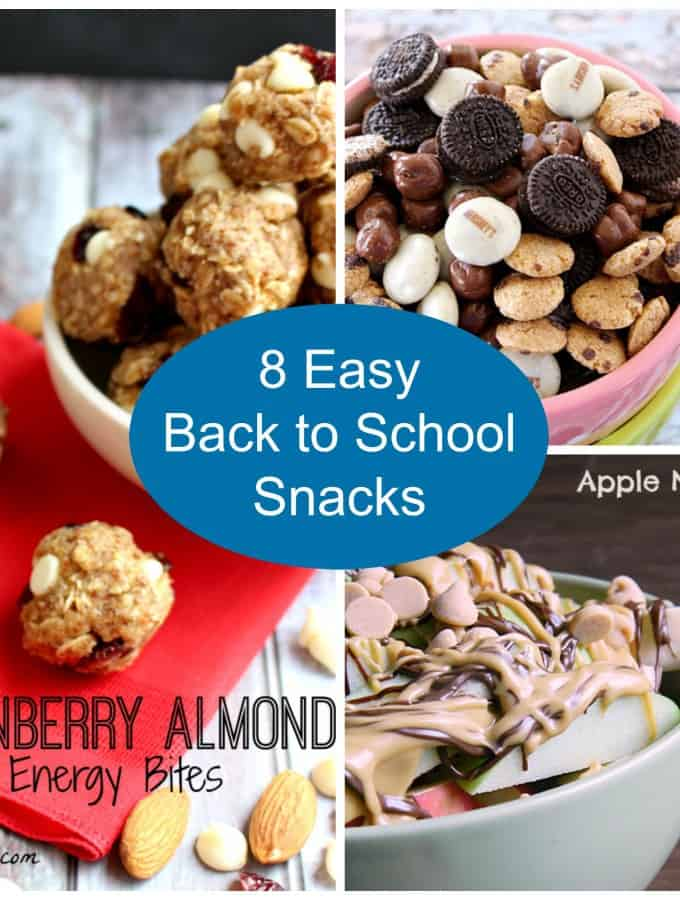8 Easy Back to School Snacks
