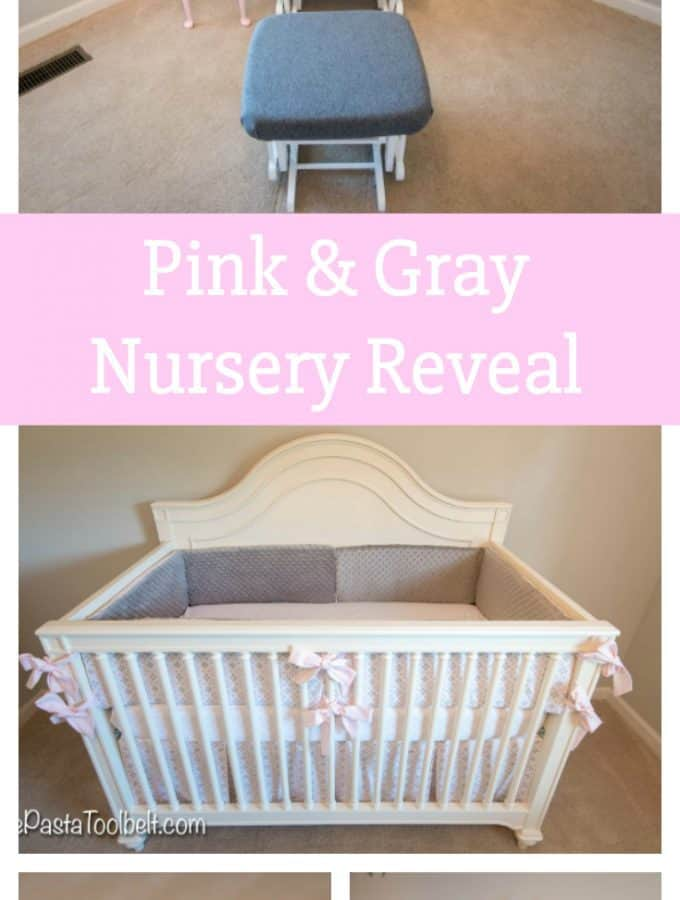 Sharing all of our inspiration for our baby girl's Pink & Gray Nursery