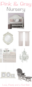 Planning a baby girls's nursery? Check out this Pink & Gray Nursery Inspiration for some cute ideas from cribs to wall decor. Click thru for ideas or Repin for later!