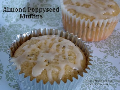 Almond Poppyseed Muffins-Guest post