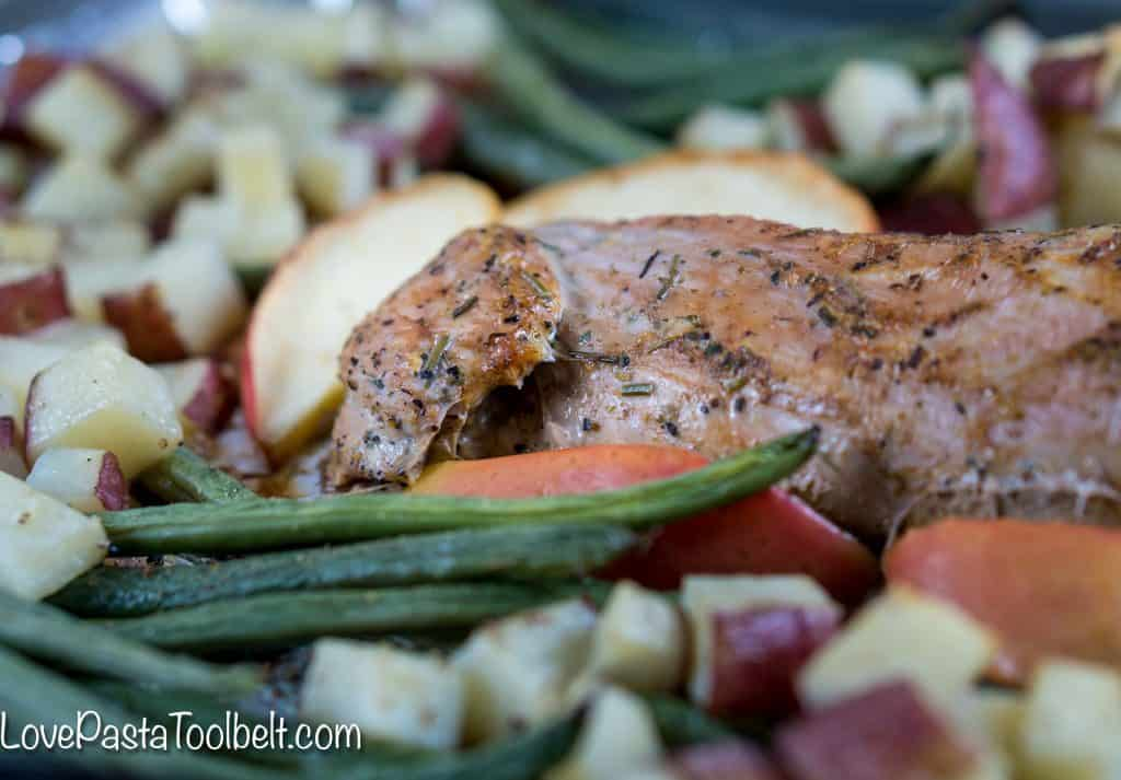 Have dinner ready in a flash with this delicious 30 Minute One Pan Roasted Garlic and Herb Pork Tenderloin. It's perfect for busy weeknights when you don't have time to spend cooking but still want a delicious meal for the family!