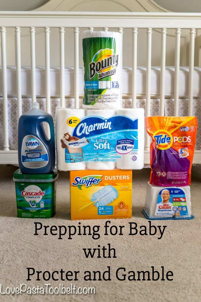 Prepping for Baby? Don't forget to stock up on your household necessities with Procter & Gamble