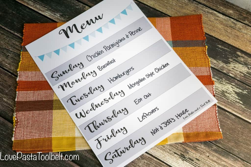 Menu planning is tough so I'm sharing my Tips for Successful Meal Planning- Love, Pasta and a Tool Belt #FrozenRewards #ad | Menu | Weekly Meal Plan | Free Printable |