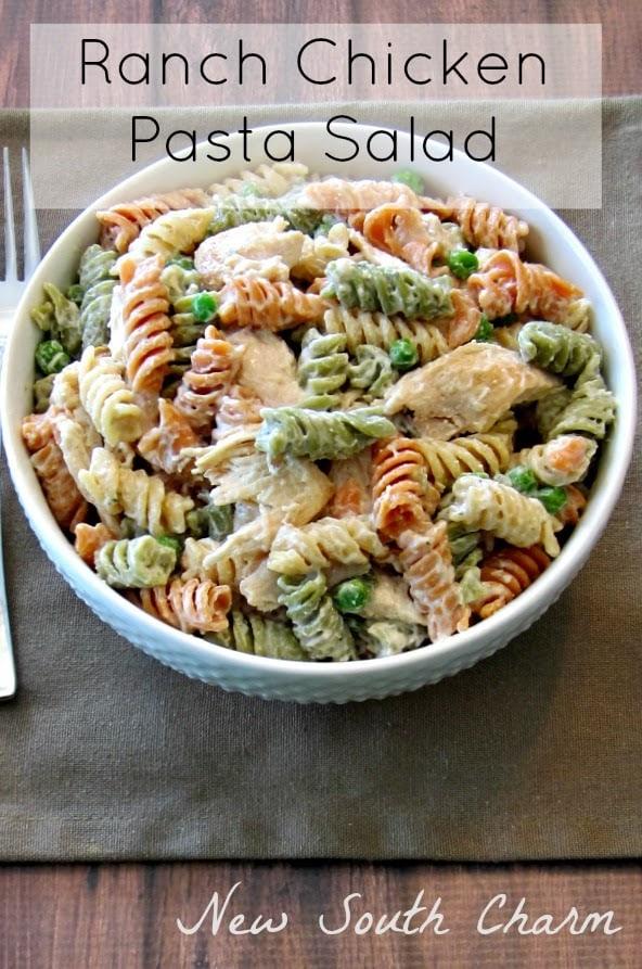 Ranch Chicken Pasta Salad