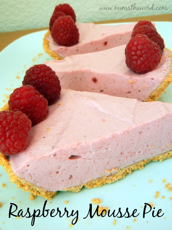 Raspberry Mousse Pie from Num's the Word