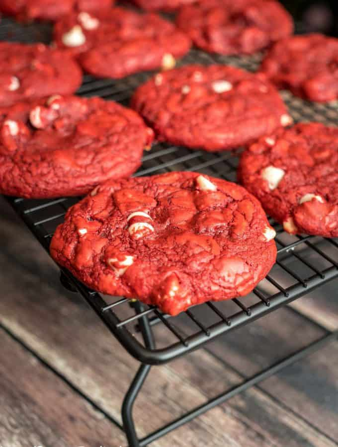Prepare for the holidays with this delicious recipe for Red Velvet Cookies that you can make two different ways!