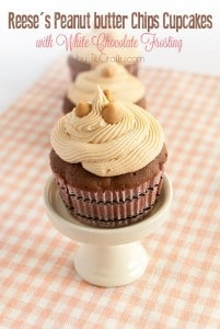 Reeses-Peanut-butter-Chips-Cupcakes-with-White-Chocolate-Chips-Frosting-Recipe