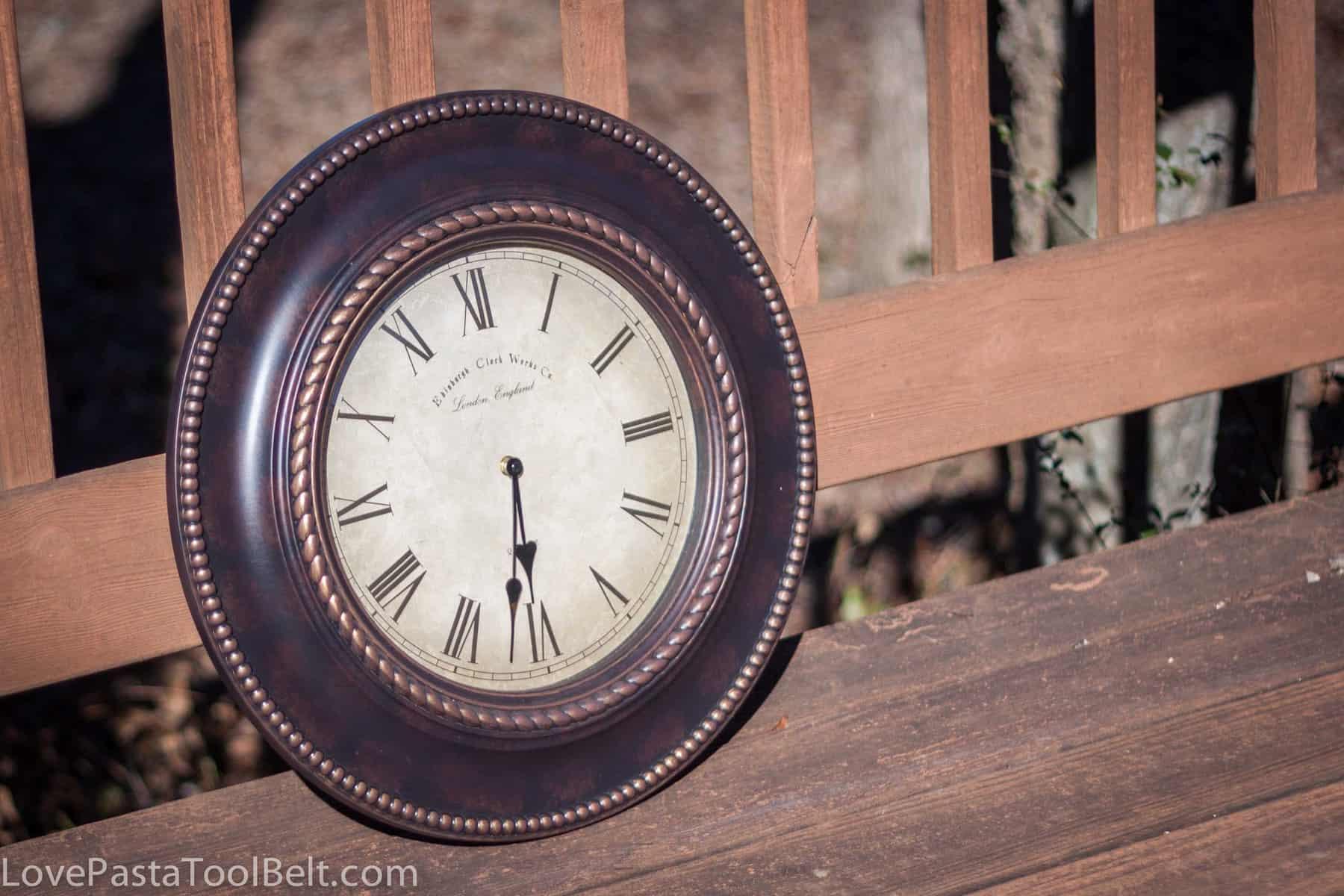 Repurposed Clock DIY Repurposed Clock to Chalkboard
