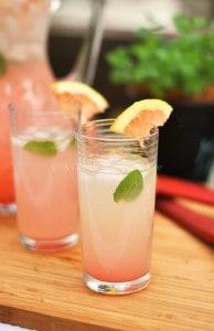 Rhubarb Grapefruit Lemonade from Cooke Named Desire