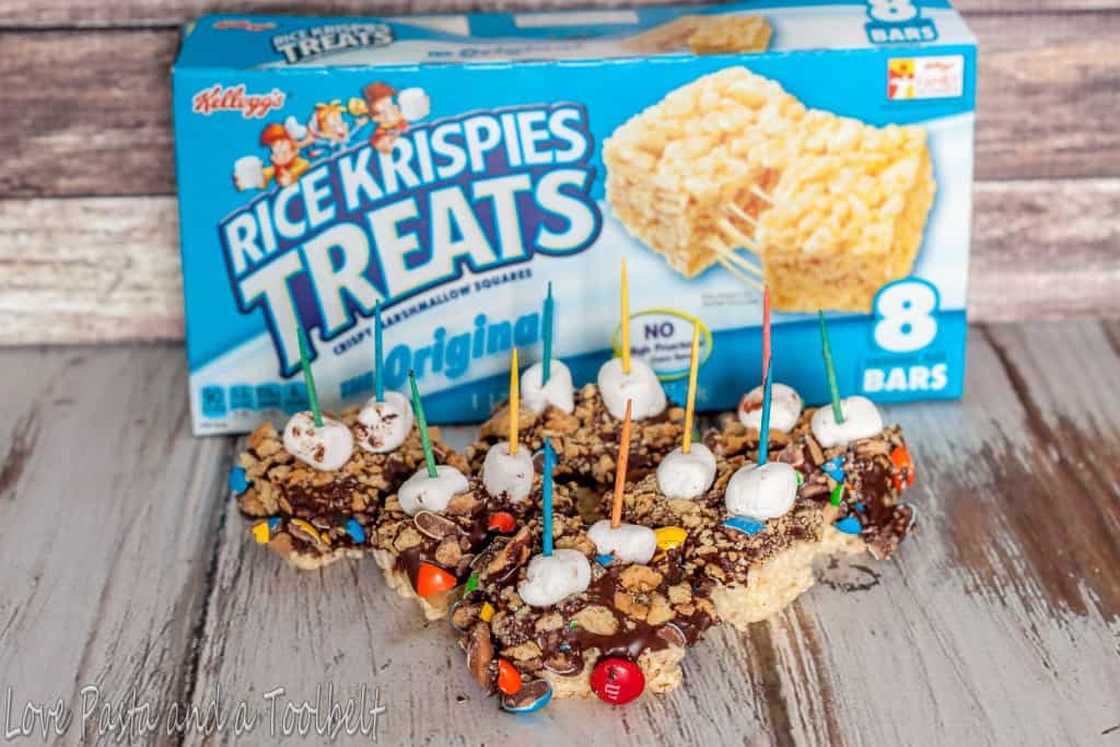 M&M's Rice Krispies S'mores - Love, Pasta and a Tool Belt #KreateMyHappy #ad | desserts | snacks | s'mores |