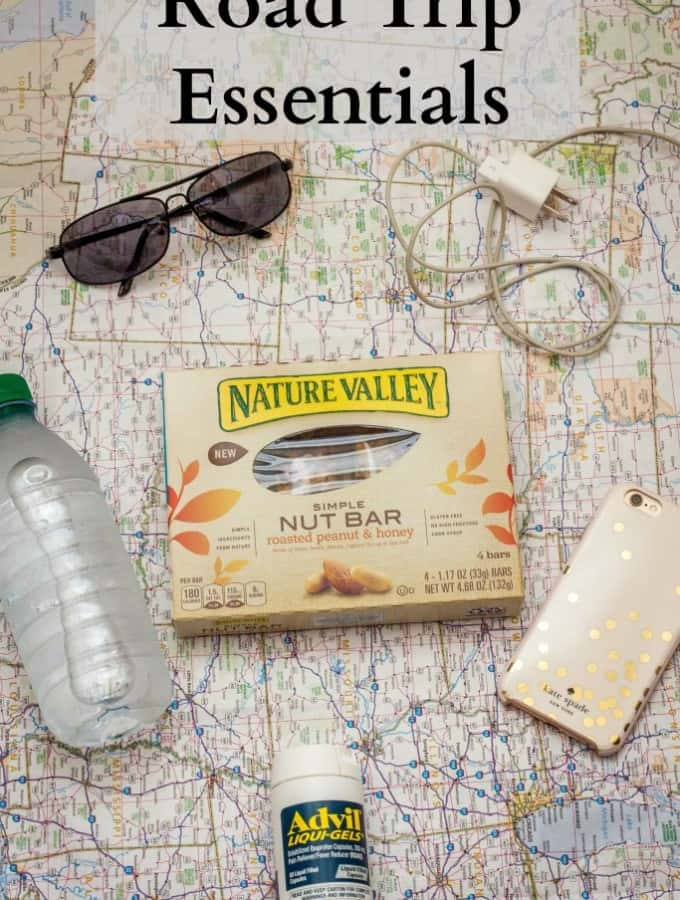 Today I'm sharing a great list of Road Trip Essentials to pack for your next trip!- Love, Pasta and a Tool Belt #simplesnacking #ad