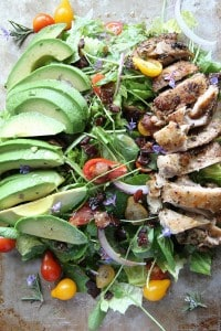 Rosemary Chicken Avocado Bacon Salad
