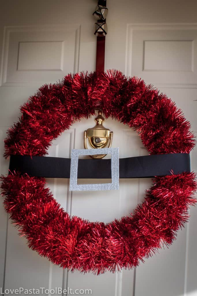 Diy Santa Wreath Love Pasta And A Tool Belt