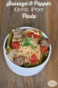 Sausage and Pepper One Post Pasta