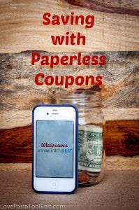 Saving with Paperless Coupons- Love, Pasta and a Tool Belt #WalgreensPaperless #shop