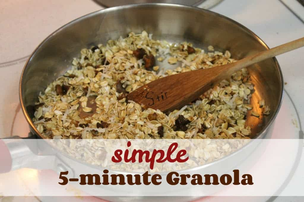 My contributor Kay is sharing her recipe for Simple 5 Minute Granola- Love, Pasta and a Tool Belt | breakfast | recipes | snack |