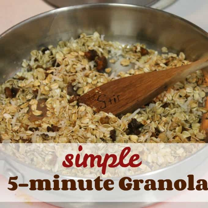 Simple 5 Minute Granola