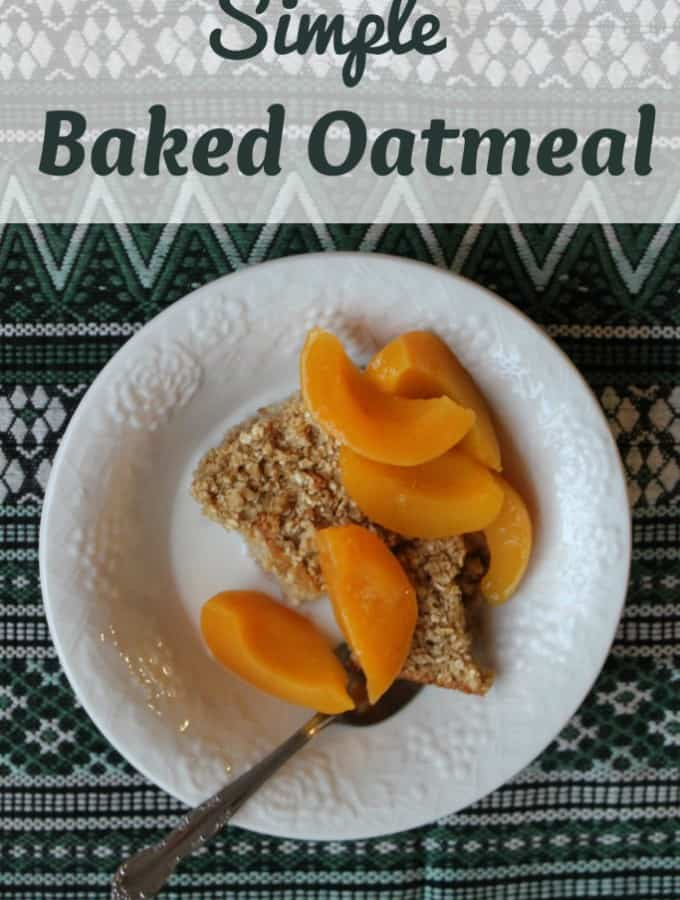 Simple Baked Oatmeal- Love, Pasta and a Tool Belt | oatmeal | breakfast | recipes | brunch |