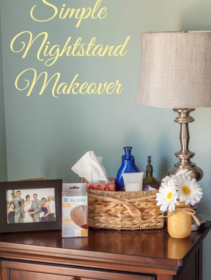 Simple Nightstand Makeover