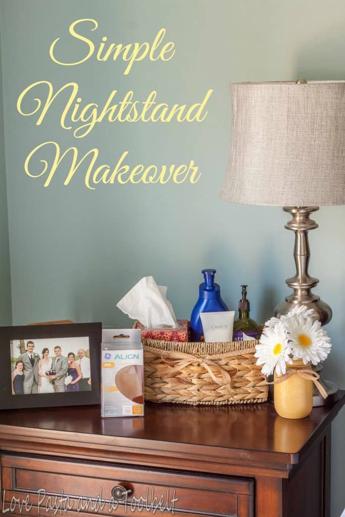 Simple Nightstand Makeover- Love, Pasta and a Tool Belt #ad #SleepAligned | DIY | Crafts | DIY Crafts | Makeover |