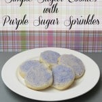 Simple Sugar Cookies with Purple Sugar Sprinkles