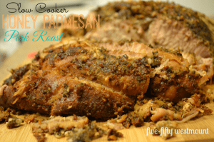 Slow Cooker Honey Parmesan Pork Roast