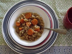 Slow Cooker Vegan Barley Stew