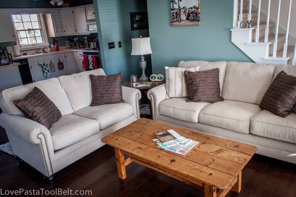 Living Room Reveal: Before and After- Love, Pasta and a Tool Belt   room   remodel   room reveal   DIY   home   home decor   before and after  
