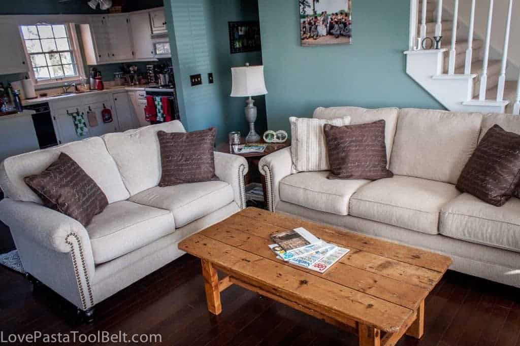 Living Room Reveal: Before and After- Love, Pasta and a Tool Belt | room | remodel | room reveal | DIY | home | home decor | before and after |