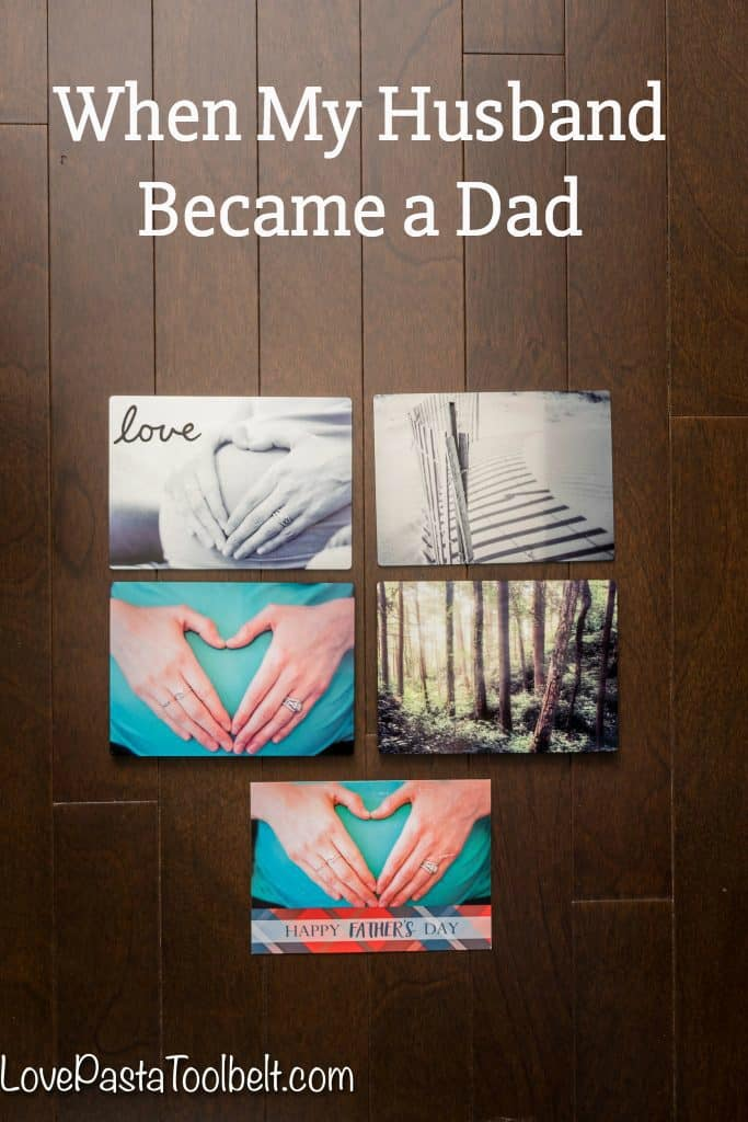 Sharing about when My Husband Became a Father and some fun photo gifts for his first Father's Day with Snapfish! #SnapfishDads #ad