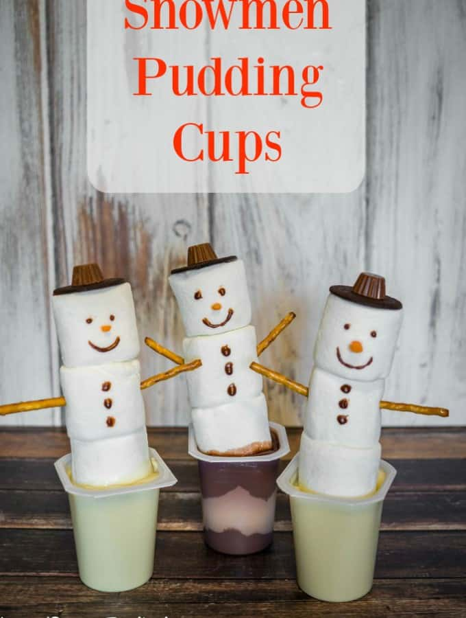 Snowmen Pudding Cups