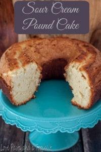 Sour Cream Pound Cake- Love, Pasta and a Tool Belt   sour cream pound cake   pound cake   cake   desserts   recipes  