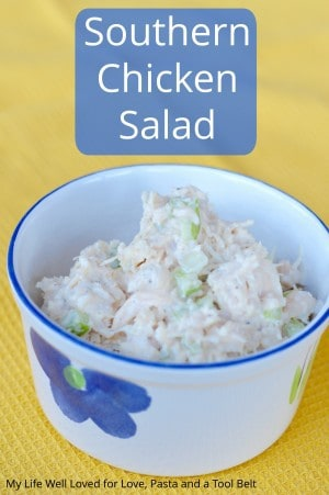 Enjoy a classic southern dish with this Southern Chicken Salad recipe, perfect for a snack or a delicious lunch! Click thru for the recipe or Repin to save for later!
