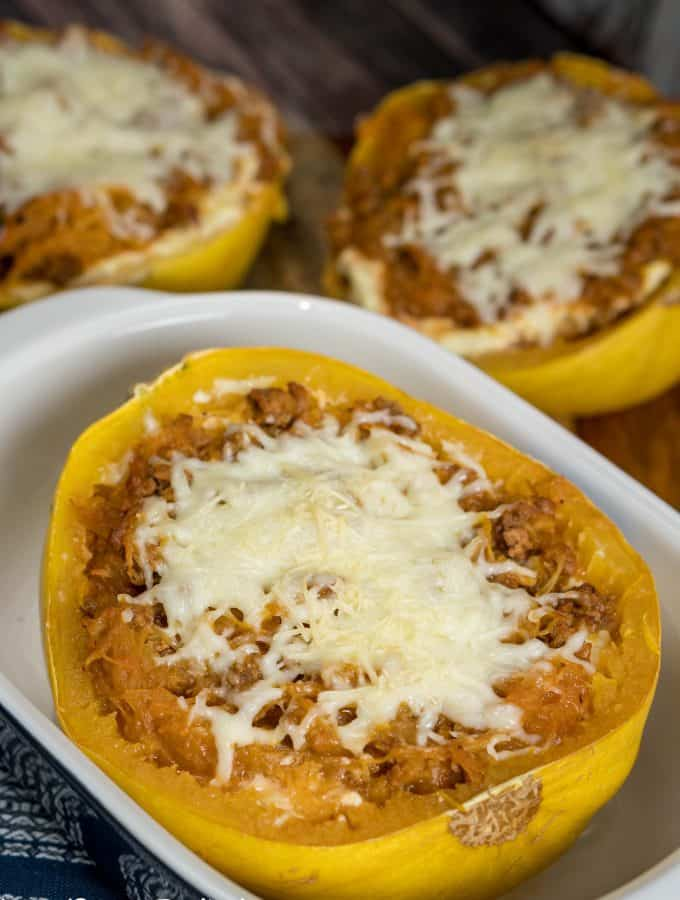 Get all of the flavors of a traditional lasagna without the guilt with this healthier Spaghetti Squash Lasagna. Perfect for dinner with the whole family.