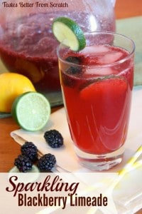 Sparkling Blackberry Limeade from Tastes Better From Scratch