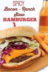 Spicy Bacon Ranch Slaw Burger