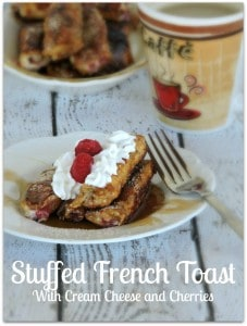 Stuffed French Toast with Cream Cheese and Cherries